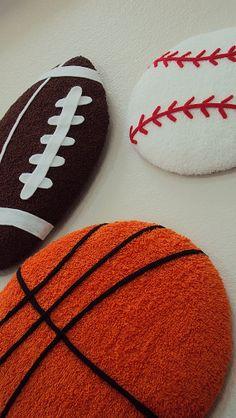 Pre-order Sports Balls Wall art - Sports theme nursery football, basketball, baseball wall hanging  on Etsy, $65.00