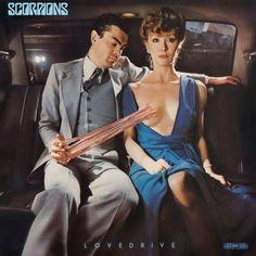 Lovedrive, de la banda de heavy metal alemana Scorpions. Portada diseñada por Storm Thorgerson de Hipgnosis. Publicado en 1979.