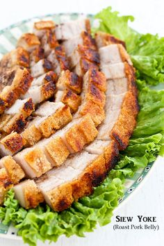 Easy to prepare Siew Yoke (Roast Pork Belly) with a perfectly crisp crackling. Delicious served with steamed rice and perfect for any occasion or festival. Pork Belly Recipes, Asian Pork, Bbq, Malaysian Food, Malaysian Recipes, Asian Kitchen, Oriental, Pork Dishes, Asian Cooking