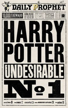 The Daily Prophet: Undesirable No 1.