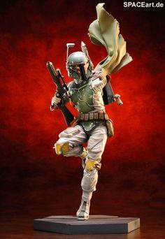 Star Wars: Boba Fett - Fighter Pose ArtFX Statue, Fertig-Modell, http://spaceart.de/produkte/sw015.php