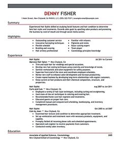 hair stylist resume template free http www resumecareer info