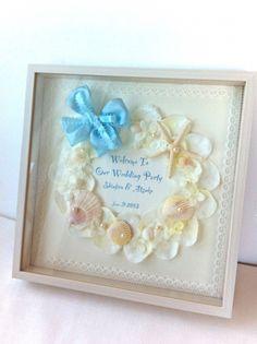 サムシングブルーの潮風と貝がらウエルカムボードボックス30完成品<シェリーマリエ・ウェルカムボードコーナー> Flower Frame, My Flower, Flowers, Welcome Boards, Beach Themes, Marie, Our Wedding, Gifts, Handmade