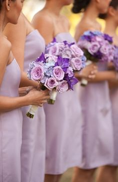 Beautiful color for the bridesmaids!