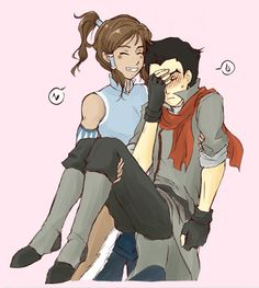 Korra & Mako- Cause this could totally happen...
