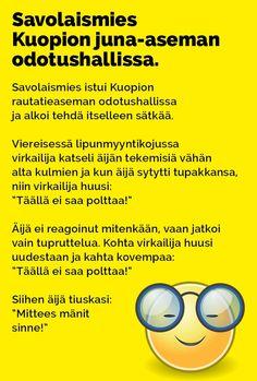 Vitsit: Savolaismies Kuopion juna-aseman odotushallissa - Kohokohta.com