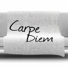 East Urban Home Carpe Diem by Oriana Cordero Fleece Blanket Size: 80'' L x 60'' W