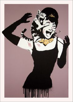 Tiffany for Breakfast. 2007 by Eelus #Urban Art #Pop Art