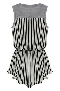 ROMWE   Anomalous Lower Hem Grey Vest, The Latest Street Fashion