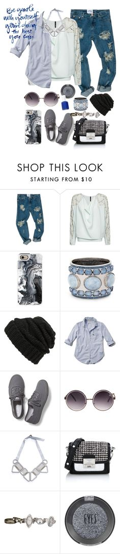 """Be Gentle"" by twelfthdoctor ❤ liked on Polyvore featuring MANGO, Casetify, Chico's, Leith, Abercrombie & Fitch, Keds, Quay, Karl Lagerfeld, maurices and Topshop"