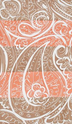 Textile Design from 'Paisley Rose' Series | Elza Sunderland
