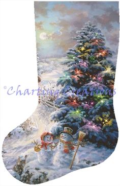 Stocking Country Shopping Cross Stitch Christmas Stockings, Cross Stitch Stocking, Xmas Cross Stitch, Cross Stitch Art, Christmas Cross, Counted Cross Stitch Patterns, Cross Stitch Designs, Cross Stitch Embroidery, Saint Nicolas