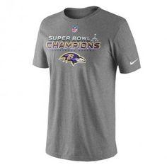 Ravens Super Bowl XLVII Champions - Locker Room T-Shirt - Grey-already ordered mine :)