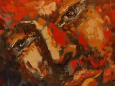 """Art Nevah Dies"" Large painting of a face by Tatiana Iliina"
