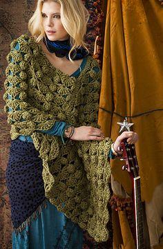 Bulky Poncho By Candi Jensen - Purchased Crochet Pattern - (ravelry)