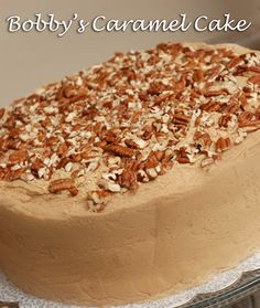 ***Caramel...Butter...Fluffy Cake Layers...Decadent Filling...Pecans...Paula Deen...Need I say more??? Haha. I recently made this cake for ...