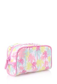 Pastel Palm Cosmetic Bag | FOREVER21