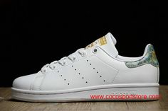 new styles 9097a 33be0 Adidas Stan Smith Peacock tail White Gold Womens Originals Off Online
