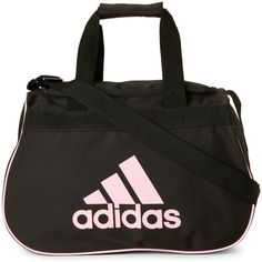 Adidas Pink Diablo Small Duffel ($11) ❤ liked on Polyvore featuring bags, luggage and pink
