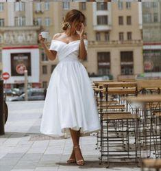 Civil Wedding Dresses, Wedding Dress Trends, Gown Wedding, Dresses To Wear To A Wedding, Courthouse Wedding Dress, Wedding Dress Midi, Dream Wedding, Wedding Wear, Wedding Party Dresses