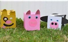 Show the kids how to recycle and have fun making these Farm Animal Tissue Boxes. Kids have always loved boxes of all kinds and they make the best craft mat Farm Animal Crafts, Animal Crafts For Kids, Animal Projects, Easter Crafts For Kids, Preschool Crafts, Fun Crafts, Recycling Projects For Kids, Recycled Art Projects, Recycled Crafts