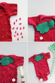 diy easy no sew strawberry halloween costume - Strawberry Halloween Costume Baby