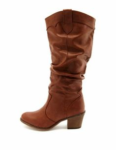 Classic Slouchy Cowboy Boot: Charlotte Russe