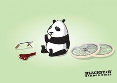 "Blackstar lanzó un afiche que describe claramente su producto ""Blackstar bamboo bikes""."