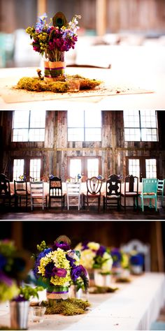Rustic barn wedding with peacock feathers. It can be done @Manda Bissette!