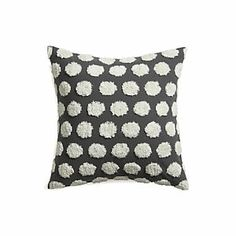 Pillows - Hob Nail Pillow I Crate and Barrel - gray and white polka dot pillow, gray pillow with chenille polka dots, Slate Gray and white polka dot pillow, Living Room Pillows, Living Rooms, Living Spaces, Kitchen And Bath Remodeling, Living Room Update, Cool Patterns, Soft Furnishings, Beige Area Rugs, Crate And Barrel