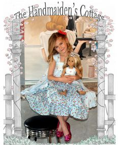 Tea Party and Doll Dress PDF Pattern Set by HandmaidensCottage, $16.00