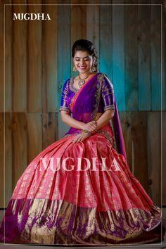 Banarasi Lehenga, Half Saree Lehenga, Lehenga Saree Design, Pattu Saree Blouse Designs, Saree Gown, Half Saree Designs, Lehnga Dress, Bridal Blouse Designs, Lehenga Designs