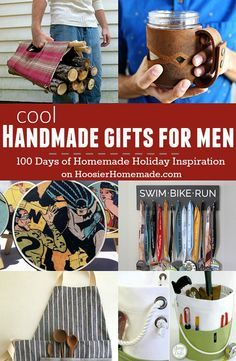 These Cool Handmade Gifts For Men Are Sure To Make Him Smile They Easy Too Visit Our 100 Days Of Homemade Holiday Inspiration More Recipes