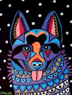 PRINT Dog Poster Art Modern Painting HEATHER GALLER DOGS