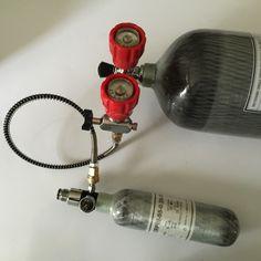 3 Liter CE 30Mpa 4500Psi Cylinder PCP Tank Scuba Charging Bottle Kits Mfr 2018