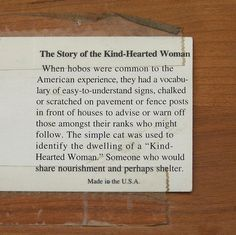Kind hearted woman sign