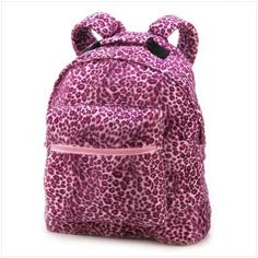 Plush, lush, and totally in step with today's hottest looks, this fabulously furry backpack will make your friends purr with envy! Roomy enough for plenty of possessions, with a front zipper pocket and comfy padded straps. Cute Jansport Backpacks, Jansport Superbreak Backpack, Cool Backpacks, Leopard Bag, Pink Leopard Print, School Tote, Pink Animals, School Bags For Kids, Backpacks