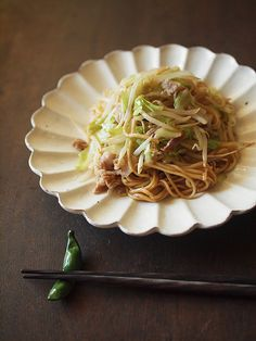 Japanese fried noodles, Yakisoba. ( no recipe, but this is how I want my yakisoba to look like.)