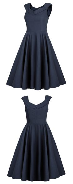 Womens 1950s Cap-Sleeves Vintage Cocktail Dress $49.99 at http://www.ouges.net/product/womens-1950s-cap-sleeves-vintage-cocktail-dress/