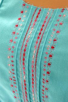 pintucks and embroidery