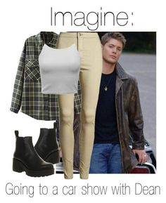 """Imagine: Going to a car show with Dean"" by fangirlingciera ❤ liked on Polyvore featuring Vagabond, supernatural, DeanWinchester and cars"