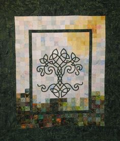 Gorgeous!  Art Quilt - Tree of Life in Summer Wall Hanging. $550.00, via Etsy.