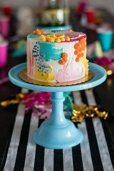 Alla Prima Art Studio - Birthday Styled Shoot - New Braunfuls, Texas Pretty Cakes, Cute Cakes, Beautiful Cakes, Amazing Cakes, Sweets Cake, Cupcake Cakes, Mini Cakes, Party Fiesta, Bolo Cake