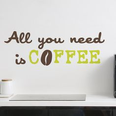 adhesive decoration coffee | Stickers murali, Adesivi decorativi, Wall Stickers