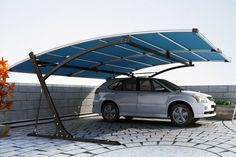 The modern carport ideas of the year - Decoration Solutions Carport Canopy, Pergola Carport, Deck With Pergola, Carport Aus Aluminium, Aluminum Carport, Carport Modern, Modern Garage, Car Shed, Car Shelter