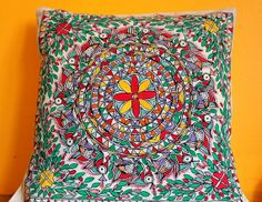 Gorgeous MadhuBani Pillows perfect for home by sensitivecreations, $20.00