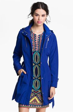A more casual jacket. (Laundry by Shelli Segal Belted Coat with Detachable Hood available at Nordstrom)