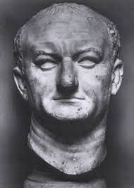 Vespasiano,70 a.C.,marmo,Museo Nazionale Romano, Roma.