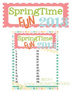 Springtime-checklist - I need to do this with my kids!!