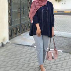 Beautiful or No? Pakistani Fashion Casual, Modern Hijab Fashion, Street Hijab Fashion, Hijab Fashion Inspiration, Muslim Fashion, Fashion Outfits, Casual Hijab Outfit, Hijab Chic, Hijab Style Tutorial